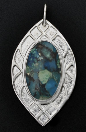 Sterling Turquoise and Pyrite Pendant